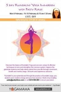 Kundalini Yoga February Immersion in Clovelly with Patty Kikos
