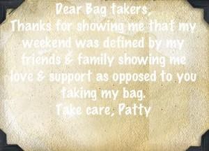 Patty Kikos thankyou