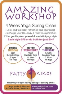 Yoga September Spring Clean with Patty Kikos