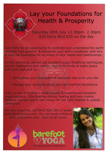 Patty-Kikos-Health-Prosperity-Base-Chakra-Workshop-Paddington