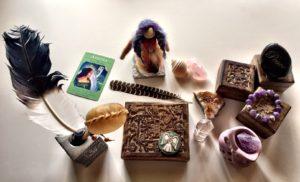 Altar using Samantha Wills' gift boxes