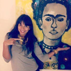 Patty Kikos with Frida Kahlo