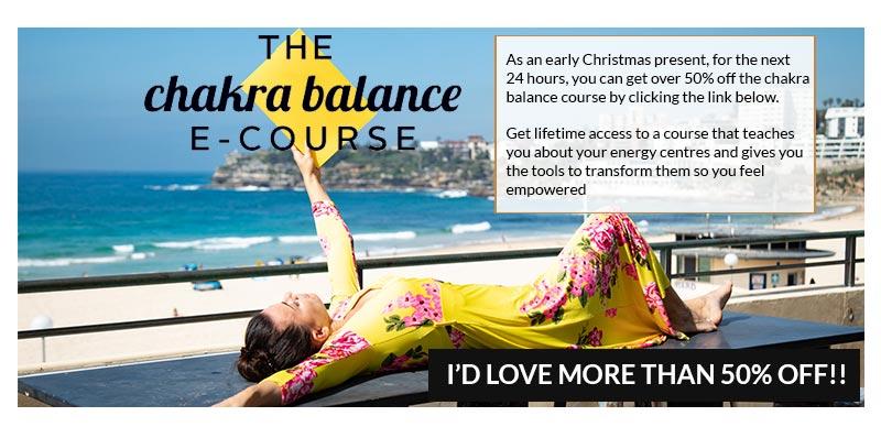 50% of chakra balance e-course